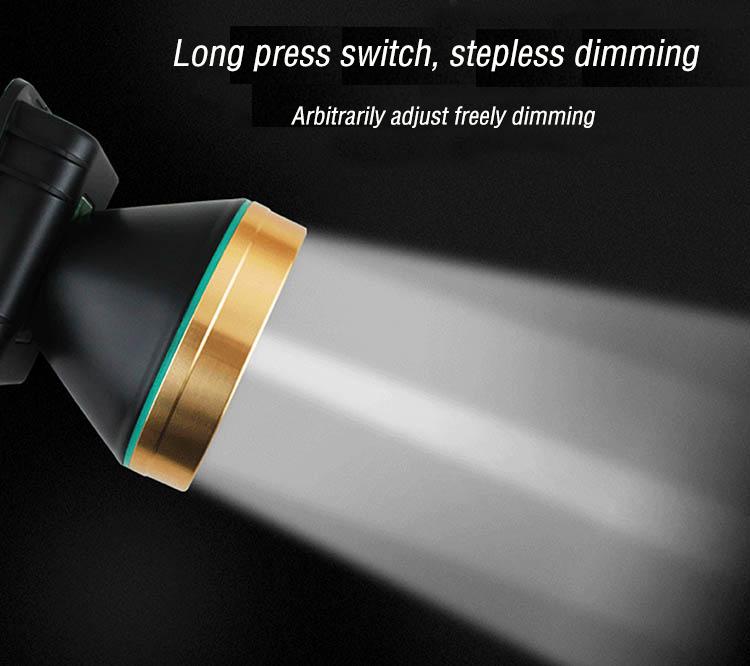 Внешний аккумулятор с умным датчиком YJN3821, китайская фабрика, оптовая продажа, перезаряжаемая СВЕТОДИОДНАЯ головная лампа 5 Вт 3,7 в