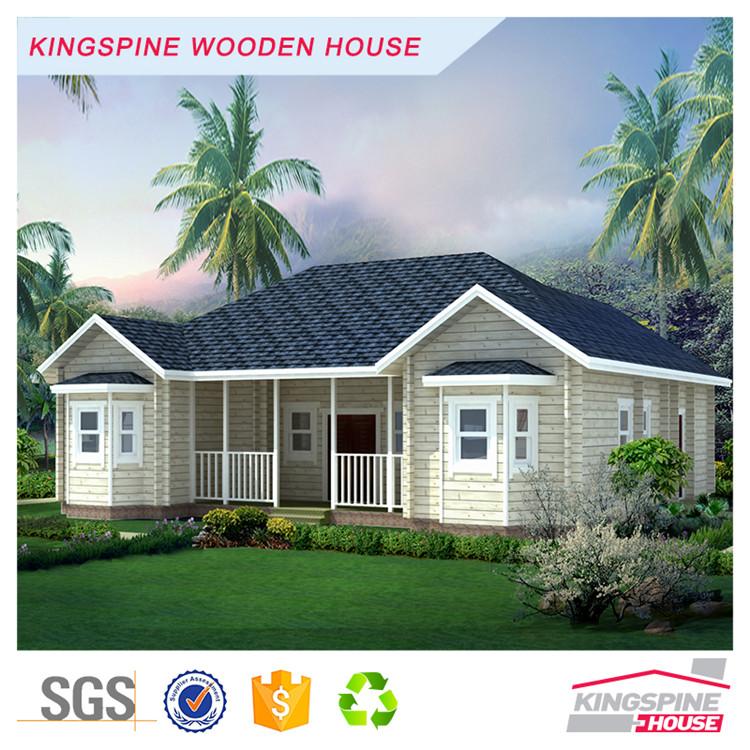 Высокое качество сборные виллы класса люкс деревянный дом сборные KPL-021