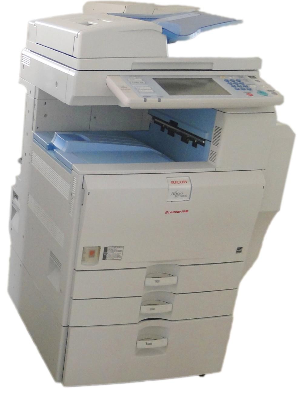used ricoh aficio photo copier machine MP5001 A3 black photocopy printer machine