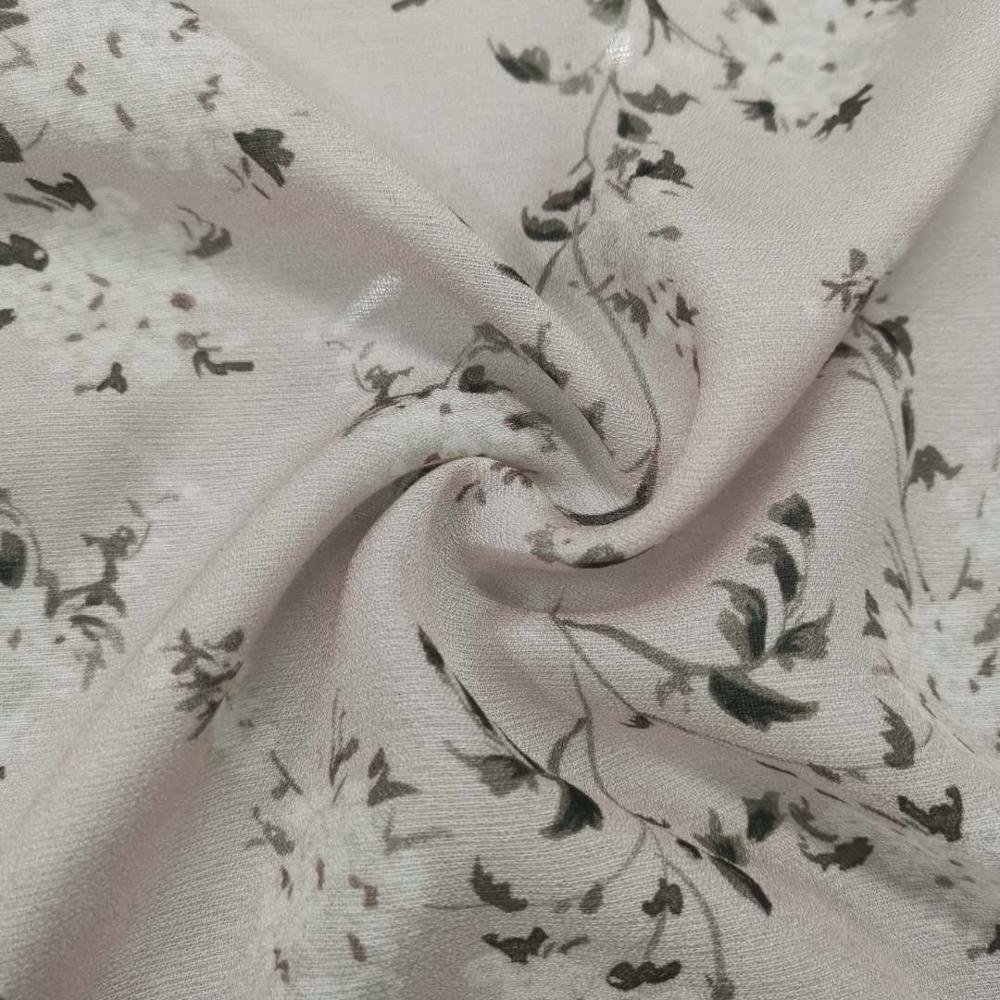 Модная дизайнерская шелковая вискозная ткань с цветочным принтом, Женская ткань для платья, ткань из модала и Жоржетта с принтом для платья