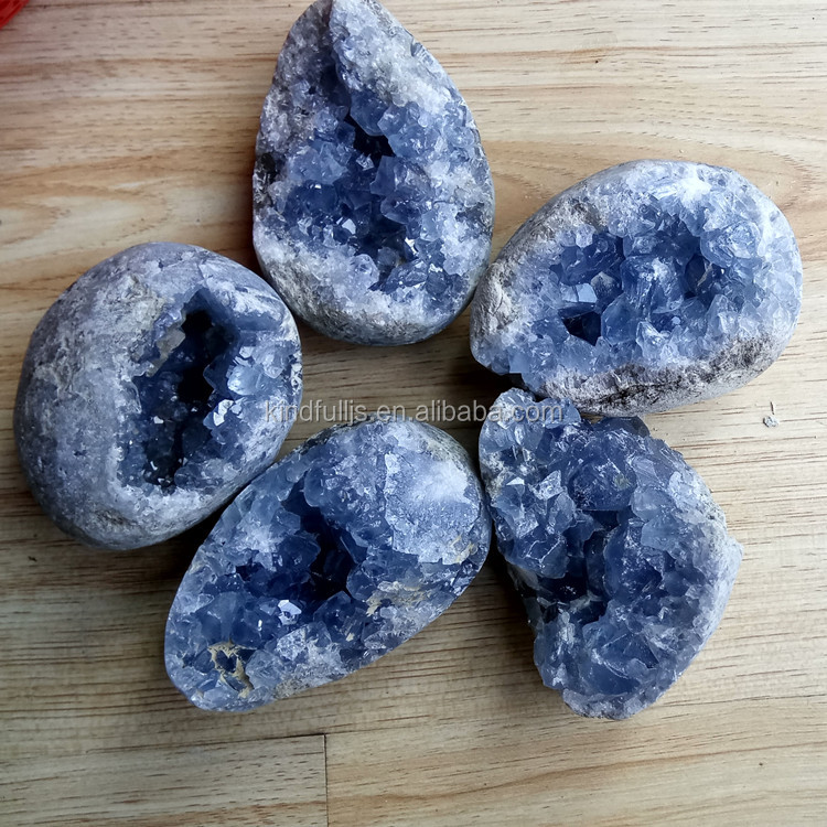 Top Quality Blue Celestite Crystal Geodes Blue Celestine Crystal Geodes