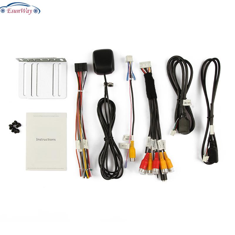 Универсальный автомобильный аудиоплеер EsunWay с сенсорным экраном 2DIN, радио, MP5, Авторадио, Android, стерео, видео, GPS-навигация, FM