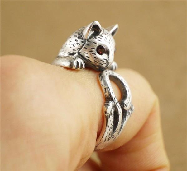 Summer Style Hippie Vintage Anel Punk Kitty Wedding Ring ...