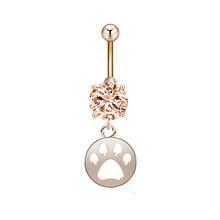 Cxwind золото пупка пирсинг собачья лапа Единорог стрелка Seashell Подвеска для пупка кольцо для женщин helix пирсинг тела ювелирные изделия(Китай)