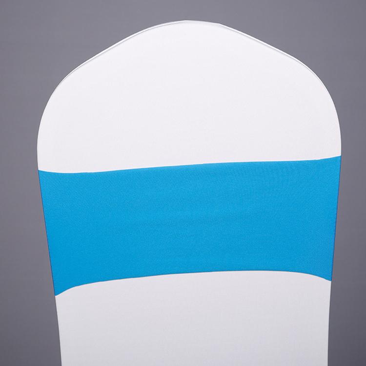 Поставка с завода YRYIE, горячая распродажа, темно-синий дешевый стул с поясом из спандекса