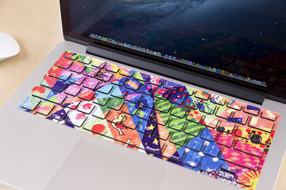 d13b62a738e0 Free shipping Removable cute colorful and beautiful world waterproof and  dustproof keyboard stickers for computer notebook air