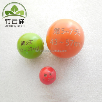 Colored wooden beads with etched logo wooden crafts ball