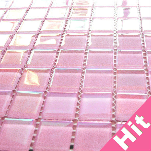 iridescent hot pink glass mosaic tiles buy pink glass mosaic tiles hot pink mosaic tiles pink mosaic product on alibaba com