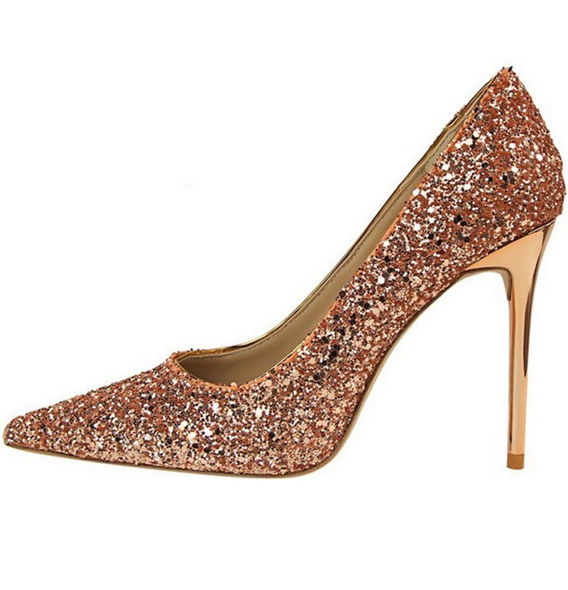 Champagne Colored Shoes Heels