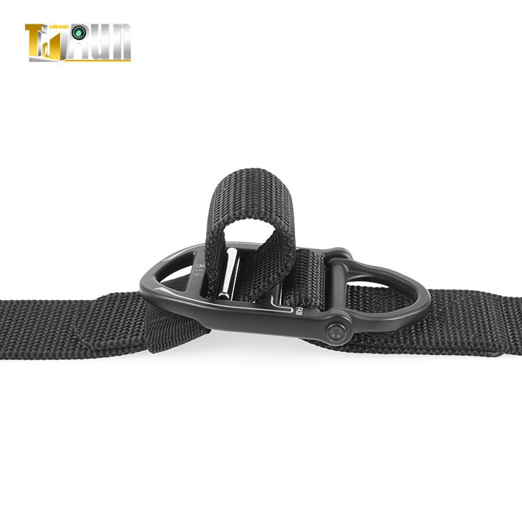 Военная пряжка с d-образным кольцом тактический армейский ремень Автоматическая черная металлическая пряжка нейлоновый черный тактический универсальный ремень