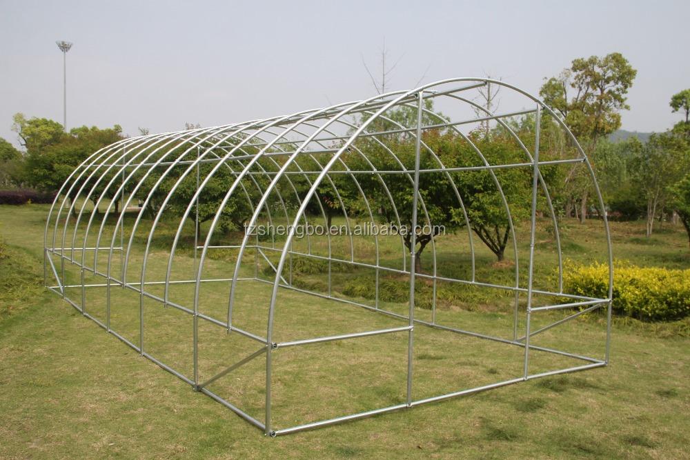 Reinforced 6x3x2m Galvanized Steel Frame Polytunnel