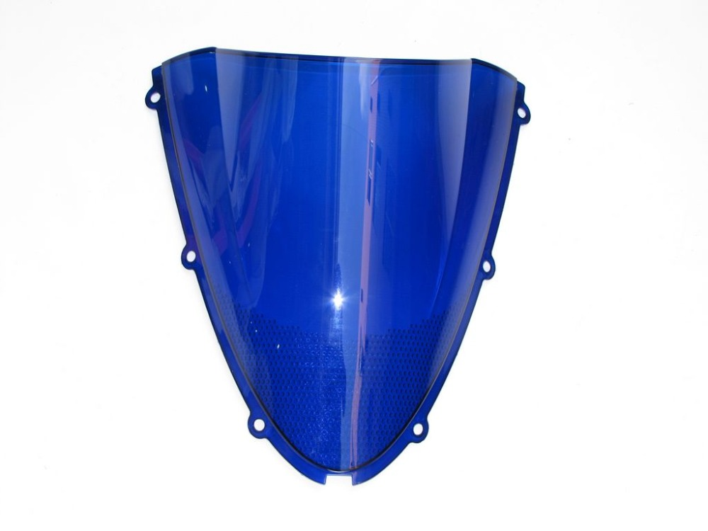 Гонки ветрового стекла лобовое стекло для kawasaki ZX6R 2005 2006 синий экран