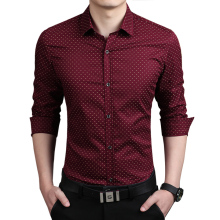 New 2015 Men's Shirts Casual brand slim fit designer print Shirts men green Fashion Clothing