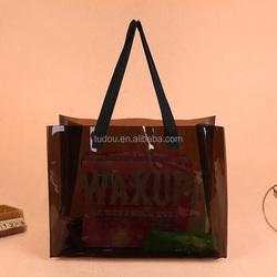 Custom pvc tote bag Logo Printing Waterproof Shopping Bag Clear Tote PVC Bag