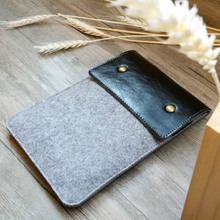 Leather & Wool Felt Sleeve Bag Pouch Case Cover for Kindle&iPad mini&Kindle Fire 7″&Kindle paperwhite