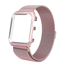 Миланская рамка для apple watch, металлический ремешок из нержавеющей стали для apple watch 5, 4, 3, 2, 1, 44 мм, 40 мм, iwatch 38 мм, 42 мм(Китай)