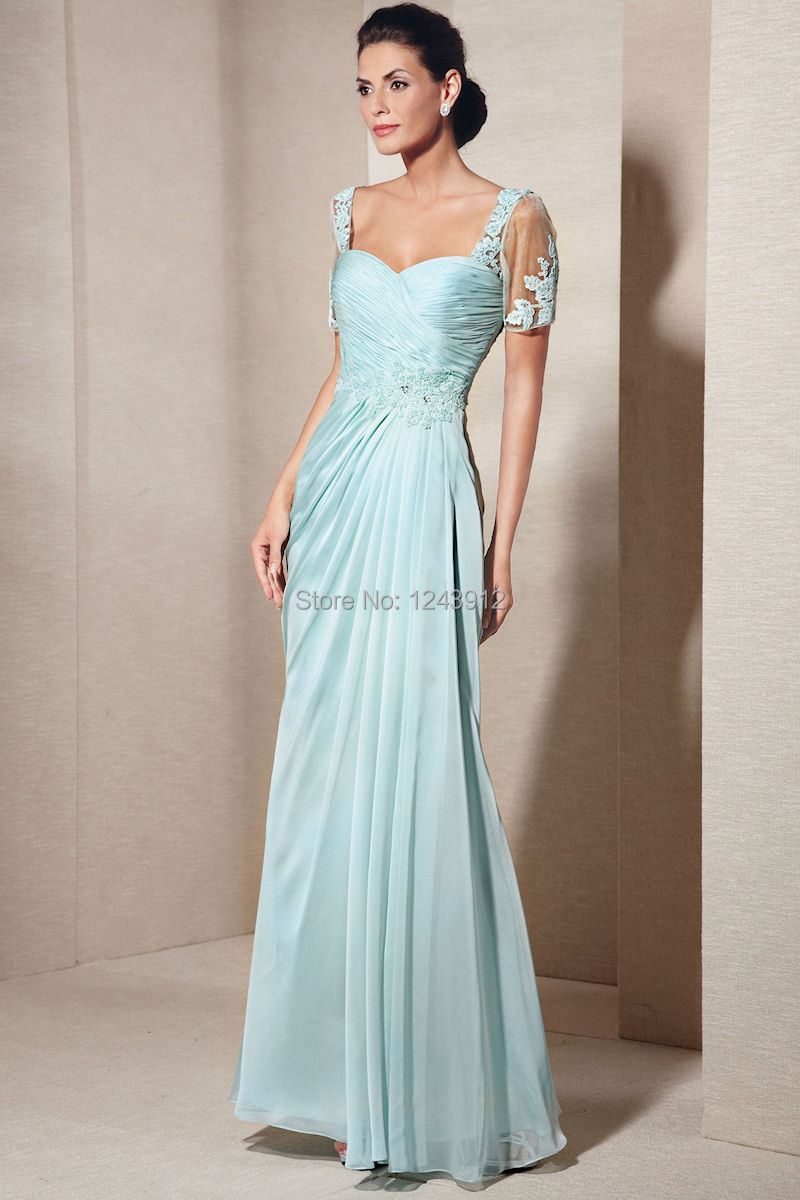 Funky Mother Of The Bride Outfits: Exquisite-Funky-Light-Sky-Blue-Charming-Chiffon-A-line