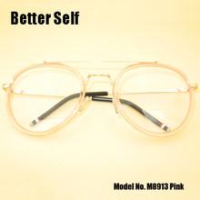 Женские оптические прозрачные оправы M8913 можно оснастить по рецепту очки для близорукости линзы металлические очки(China)