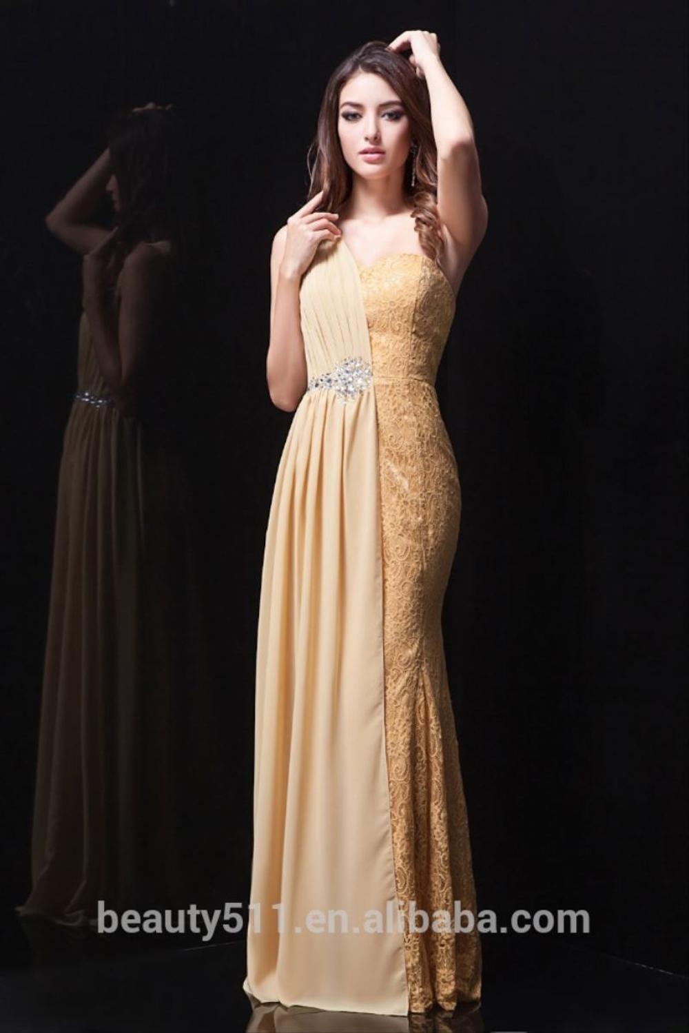 Шифоновое платье-Русалка на одно плечо, на одно плечо
