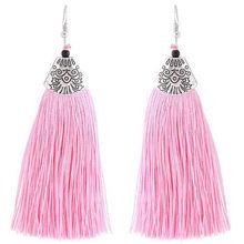 Женские винтажные серьги-капельки, серьги-подвески с длинной кисточкой, для свадьбы, 2018(Китай)