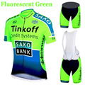 Factory Direct Sales SaxoBank Tinkoff Cycling Jerseys Quick Dry Ropa Ciclismo Cycling Clothing Breathable Cycling sportswear
