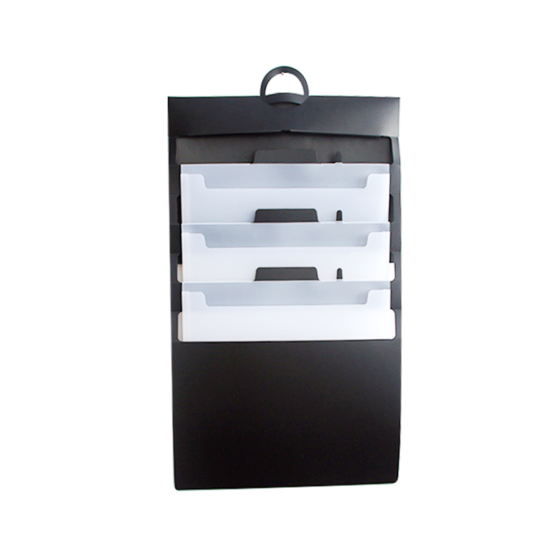 Office use File Classification Folder A4 Size Cascading Wall File Organizer Durable Sliding Folder with Handle