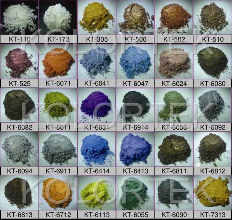 Decorative Epoxy Color Flakes Metallic Pigments Flakes For