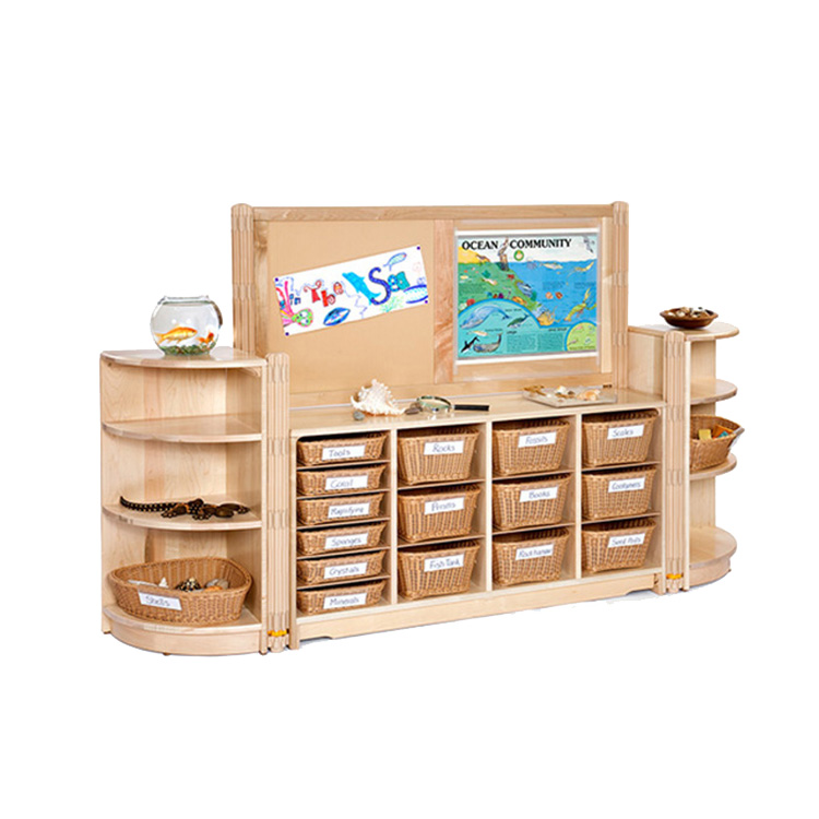 Early Education Kids Montessori Materials Kindergarten Wooden Children Kids Room Furniture Sets wirh Table and Chairs