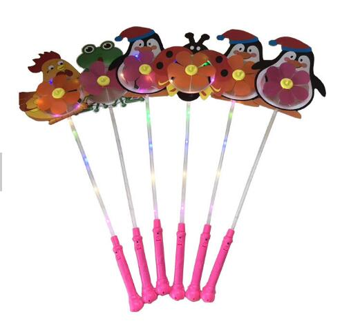 low price Pinwheels Flight Light Led light up color windmill flash animal led windmill for Kid's