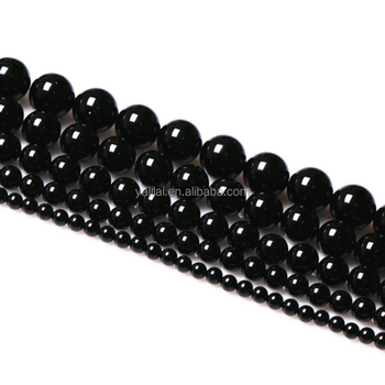 Production of natural black agate beads 8mm