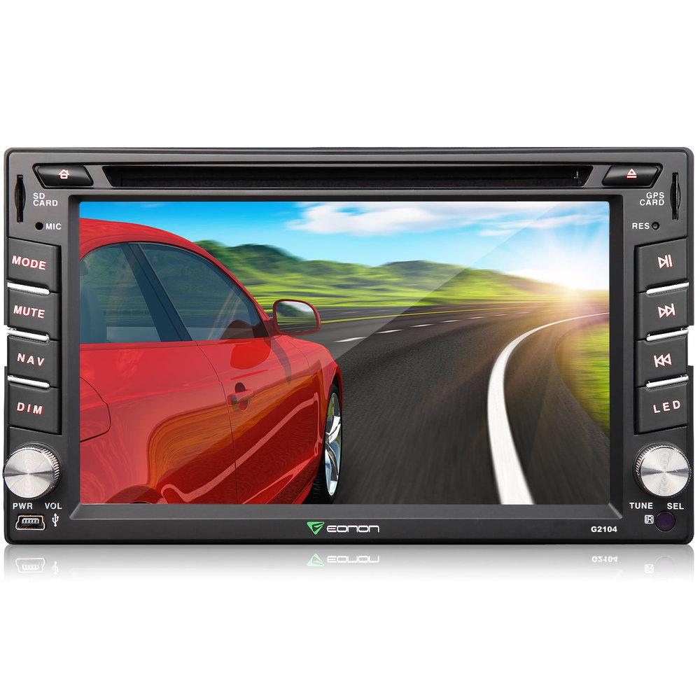 eonon g2104 6 2 universal 2din car dvd gps navigation. Black Bedroom Furniture Sets. Home Design Ideas