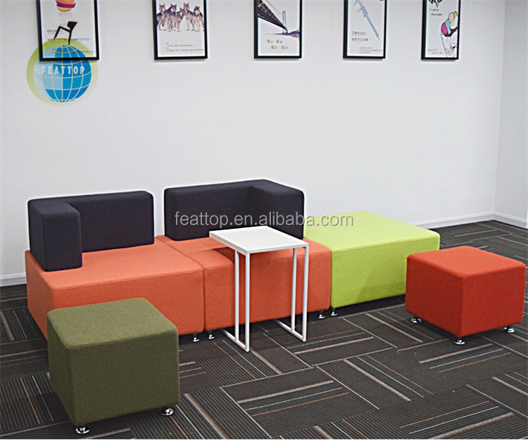 New design comfy french style black leather executive office sofa for office
