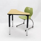School Desk School Sets Specific Use And Metal Material Double Desk And Chair