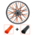 Universal Motocross Spoke Shrouds Covers Spoke Skins Wheel Fit for F125 250 450 500 Z750 Z800 Dirt Bike