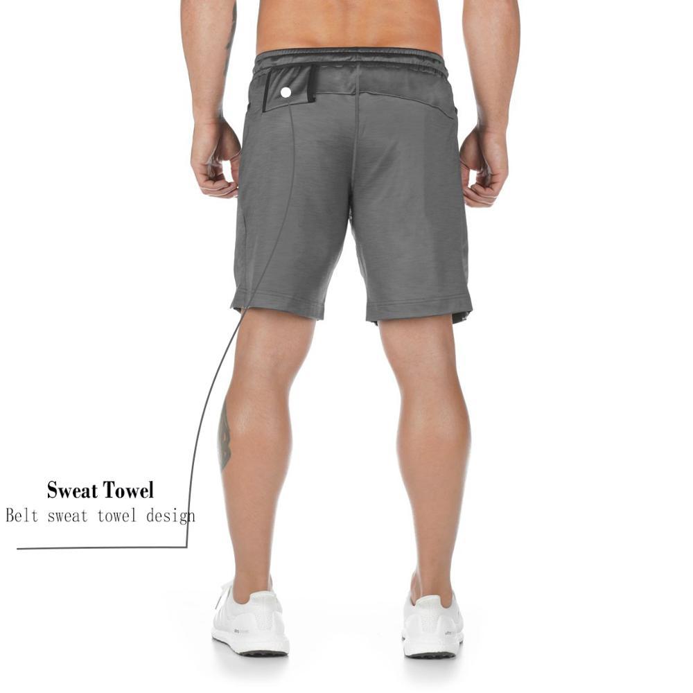 Mens 2 in 1 Active Running Shorts with Zipper Pockets Athletics Training shorts