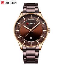 Мужские часы Curren из нержавеющей стали классные бизнес часы мужские Авто Дата часы 2019 Модные кварцевые наручные часы Relogio masculino(Китай)