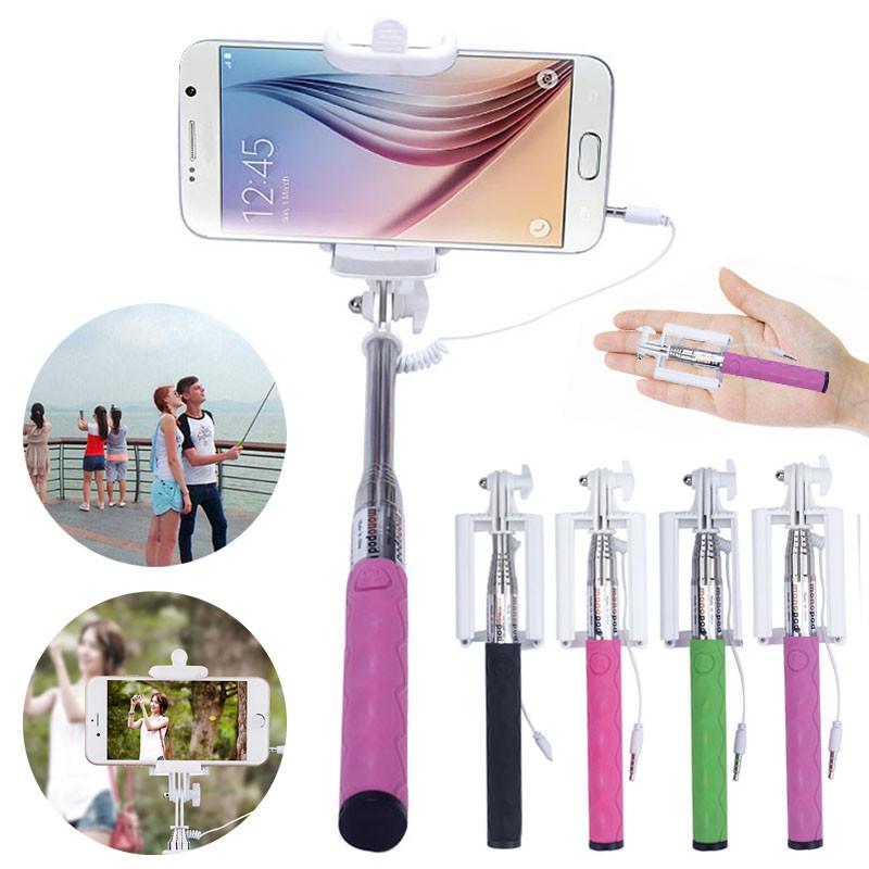 Высокое Качество Мини Портативный селфи палки Монопод Для Android IOS Мобильный Телефон для iPhone Samsung Lenovo # ED65