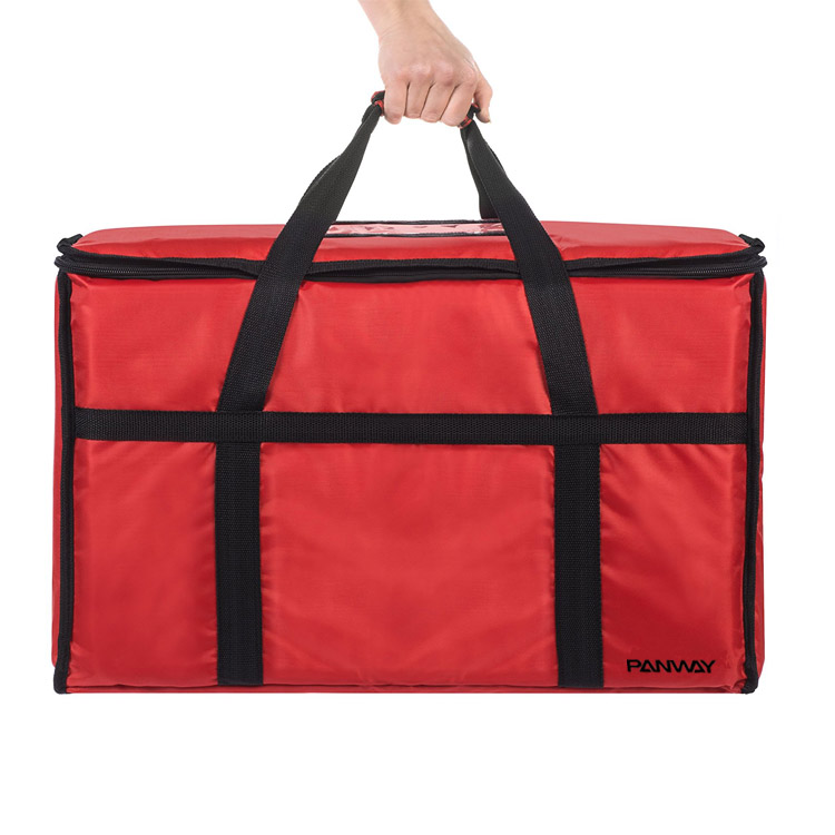 Custom Large Waterproof Durable Insulated isothermal warm lunch food home delivery bag