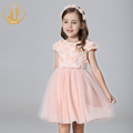 New Summer Princess and Party Girl Dress Handmade Colorful Flowers Appliques Sequined Organza Straped Girls Clothes