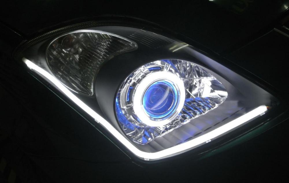 Farol Projetor Bi Xenon Angel Eyes Carro Moto Par H4 H7