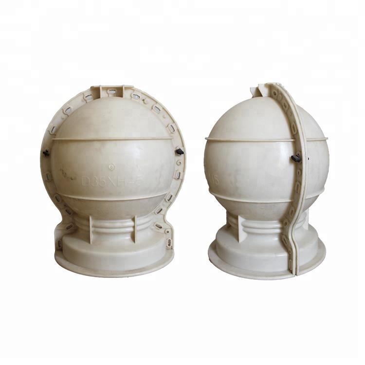 ABS concrete plastic moulds decorative ball molds