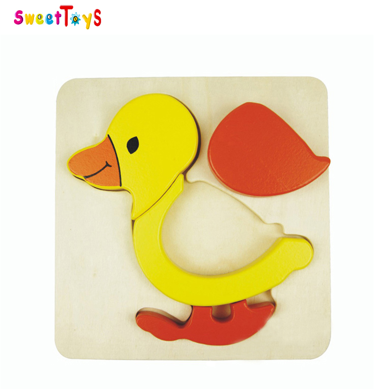 Duck wooden jigsaw puzzle