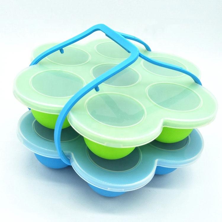 Оптовая продажа, портативные силиконовые формы для укусов яиц для младенцев без прилипания BPA Оптовая продажа, портативные антипригарные BPA бесплатные пищевые силиконовые формы для укусов яиц для младенцев