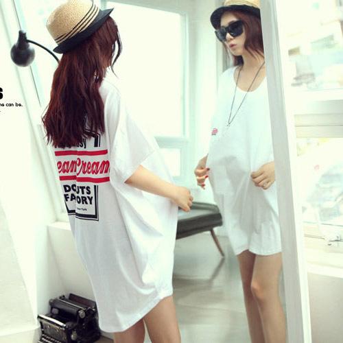 summer maternity t shirt knitted print design long t shirt short sleeve pregnant t shirt maternity