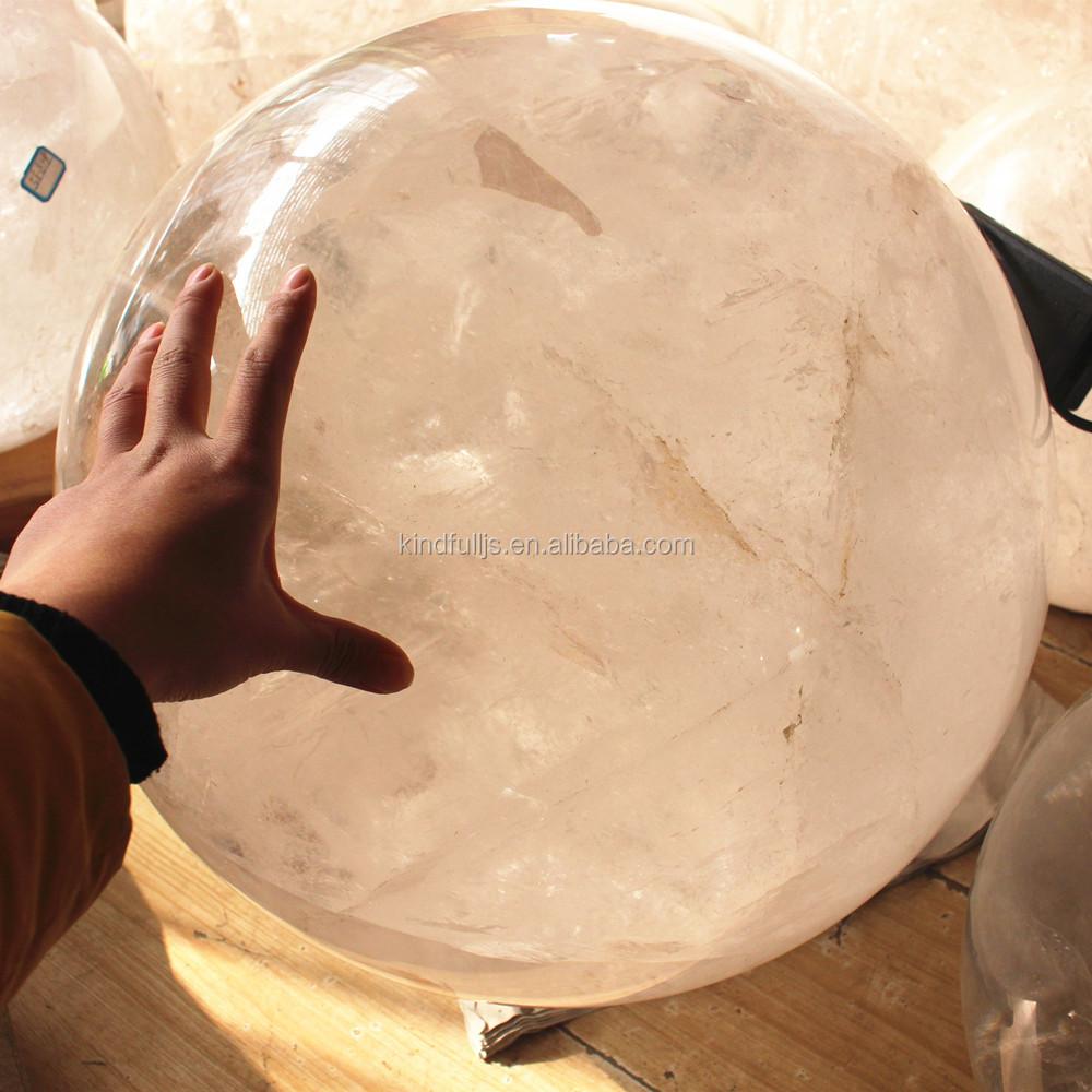 wholesale Natural 50kgs white/clear crystal quartz ball sphere large gemstone spheres