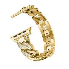 Женские часы, браслет для Apple Watch, 5, 4, 3, 2, модный бриллиант, ковбойские цепи, металлический ремешок, 38/42/40/44 мм(Китай)