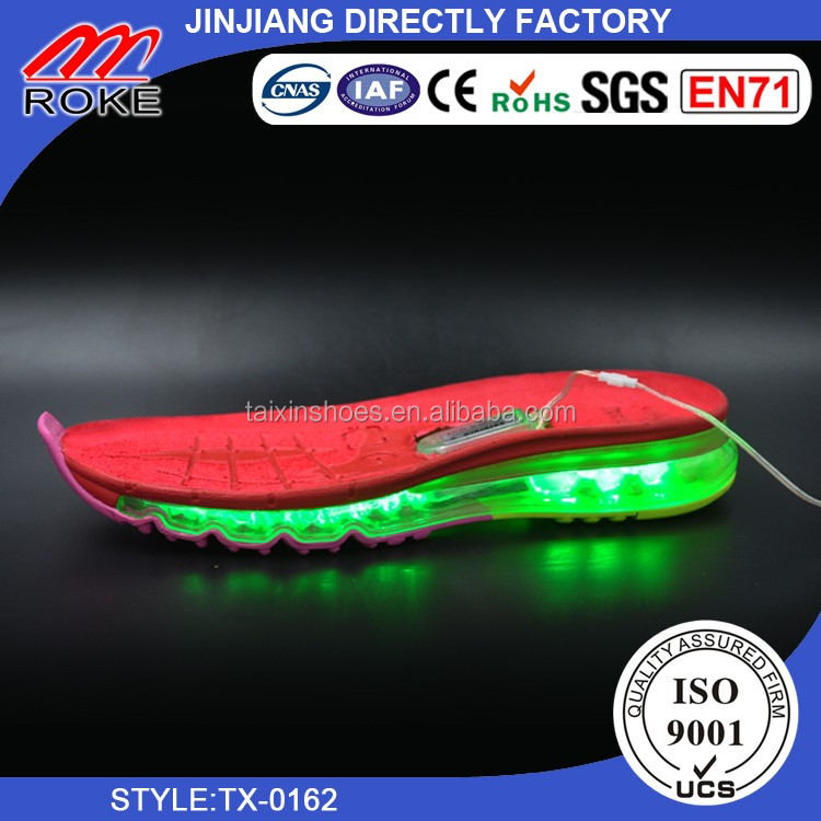 shoe making soles air cushion sole with led light