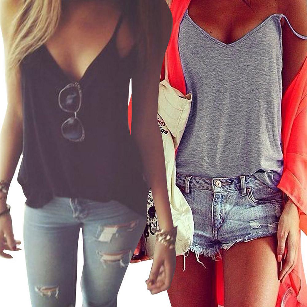 women summer vest top sleeveless shirt blouse tank top t. Black Bedroom Furniture Sets. Home Design Ideas