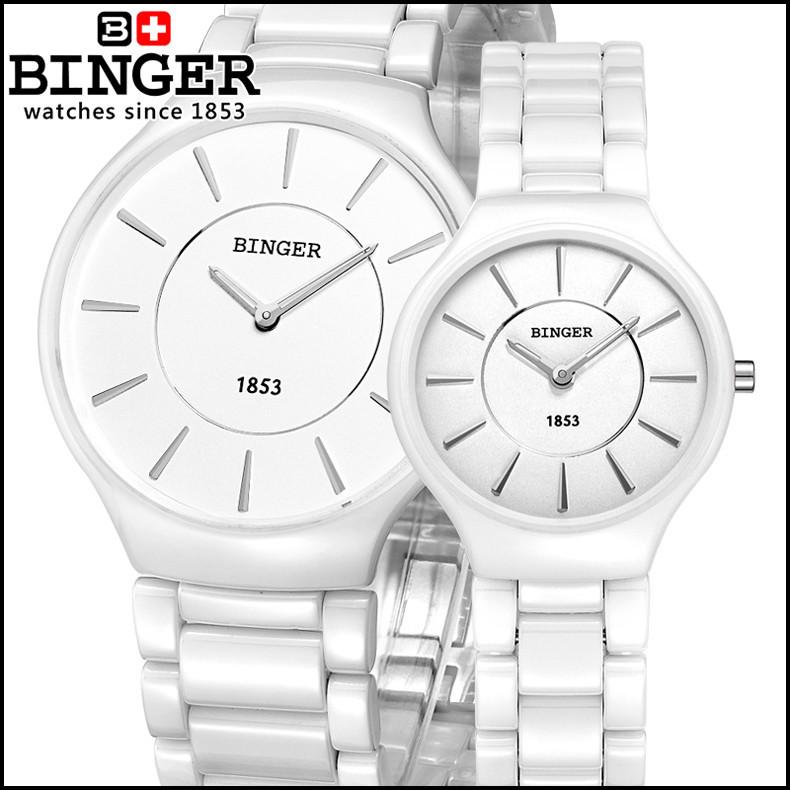 switzerland binger ceramic quartz women s watches watches 5W LED Equivalent switzerland binger ceramic quartz women s watches watches fashion lovers style luxury luxury clock brand wristwatches water resistant b8006 3
