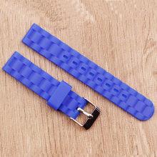 Новый! Женские силиконовые часы и аксессуары, 16 мм, с пряжкой, водонепроницаемые, карамельные цвета(Китай)